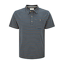 Buy John Lewis Passenger Stripe Polo Shirt, Blue/Yellow Online at johnlewis.com