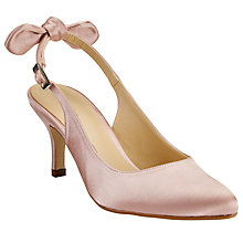 Buy John Lewis Demi Bow Slingback Court Shoes, Pink Online at johnlewis.com