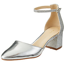 Buy John Lewis Day Two Part Court Shoes, Silver Online at johnlewis.com
