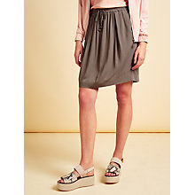 Buy Modern Rarity Soft Drape Mini Skirt, Brown Online at johnlewis.com