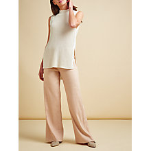 Buy Modern Rarity Sleeveless Longline Jumper, Natural Online at johnlewis.com