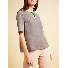 Buy Modern Rarity Suede Top, Grey Online at johnlewis.com