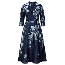 Buy Bruce by Bruce Oldfield Jacquard Floral Dress, Blue Online at johnlewis.com