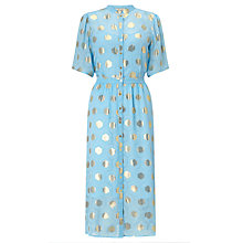 Buy Somerset by Alice Temperley Diamond Clipped Jacquard Dress, Cornflower Blue Online at johnlewis.com
