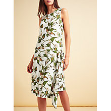 Buy Modern Rarity Lily Print Sleeveless Side Drape Dress, Multi Online at johnlewis.com