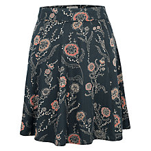 Buy Fat Face Audrey Trailing Poppies Skirt, Black Online at johnlewis.com
