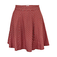 Buy Fat Face Audrey Gypset Foulard Skirt, Flame Online at johnlewis.com