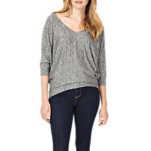 Buy Phase Eight Becca Space Dye V Neck Jumper, Grey Online at johnlewis.com