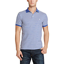 Buy Polo Ralph Lauren Striped Slim Fit Stretch Cotton Mesh Polo Shirt, Liberty/White Online at johnlewis.com