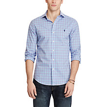 Buy Polo Ralph Lauren Check Slim Fit Shirt, Cabana Blue Online at johnlewis.com