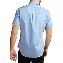 Buy Polo Ralph Lauren Slim Fit Striped Poplin Short Sleeve Shirt, Celestia Blue/White Online at johnlewis.com