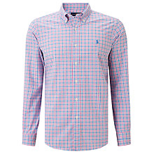 Buy Polo Ralph Lauren Custom Fit Cotton Poplin Check Shirt, Pink/Blue Online at johnlewis.com