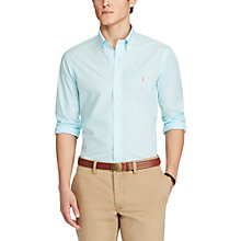 Buy Polo Ralph Lauren Stripe Standard Fit Shirt, Hammond Blue Online at johnlewis.com