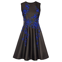 Buy Karen Millen Applique Floral Dress, Black/Multi Online at johnlewis.com