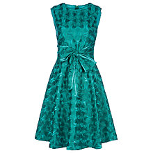 Buy Yanny London Fit And Flare Bow Dress, Emerald Online at johnlewis.com