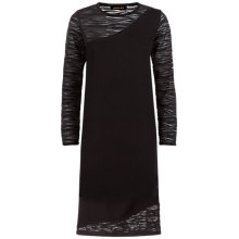 Buy Jaeger Lace Panel Knitted Dress, Black Online at johnlewis.com