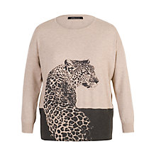 Buy Chesca Leopard Print Jumper, Cream/Black Online at johnlewis.com