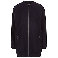 Buy Jaeger Wool Blend Aviator Jacket, Navy Online at johnlewis.com