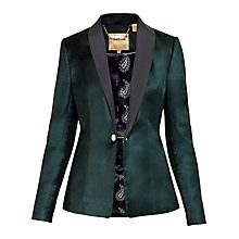 Buy Katcia Velvet Tuxedo Jacket, Jade Online at johnlewis.com