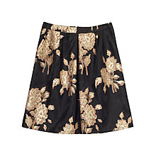Buy Precis Petite Raelene Jacquard Skirt, Black/Multi Online at johnlewis.com