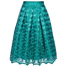 Buy Yanny London Lace A-Line Pleated Skirt, Emerald Online at johnlewis.com