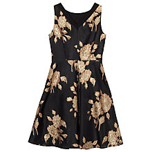 Buy Precis Petite Quinn Jacquard Prom Dress, Black Online at johnlewis.com