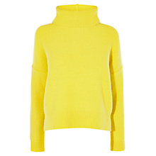 Buy Karen Millen Chunky Reverse Stitch Jumper, Lime Online at johnlewis.com