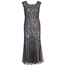 Buy Chesca Beaded Mesh Dress, Dark Grey Online at johnlewis.com