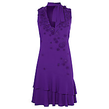 Buy Karen Millen Fluid Floral Tech Dress, Purple Online at johnlewis.com