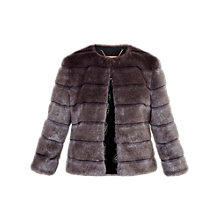 Buy Ted Baker Fabunni Faux Fur Jacket, Mink Online at johnlewis.com