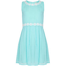 Buy Yumi Girl Lurex Pinstripe Dress, Mint Green Online at johnlewis.com