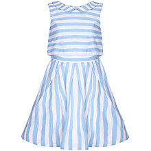Buy Yumi Girl Layer Stripe Dress, Pale Blue Online at johnlewis.com