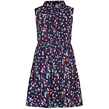 Buy Yumi Girl Ditsy Floral Shirt Dress, Navy Online at johnlewis.com