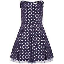 Buy Yumi Girl Metallic Spot Party Dress, Navy Online at johnlewis.com