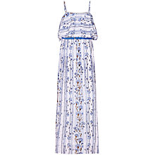Buy Yumi Girl Floral Stripe Maxi Dress, Pale Blue Online at johnlewis.com