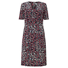Buy Jigsaw Freida Floral Tea Dress, Coral Blush Online at johnlewis.com