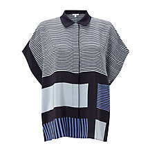 Buy Jigsaw Block Stripe Silk Blouse Online at johnlewis.com