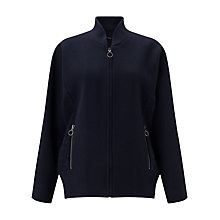 Buy Jigsaw Luxury Wool Bomber Jacket, Navy Online at johnlewis.com