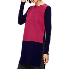 Buy Jigsaw Rose Colour Tunic Jumper, Bright Rose Online at johnlewis.com