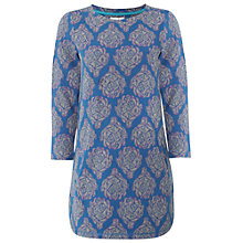 Buy White Stuff Arti Jacquard Jersey Tunic Top, Dark Teal Online at johnlewis.com