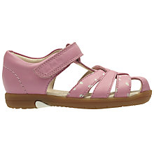 Buy Clarks Children's Softly Mae Rip-Tape Sandals, Pink Online at johnlewis.com