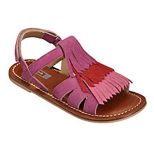 Buy John Lewis Children's Paige Tassel Sandals, Purple/Pink Online at johnlewis.com