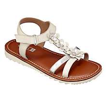 Buy John Lewis Children's Isla Applique Sandals, White/Silver Online at johnlewis.com