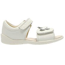 Buy Clarks Baby Kiani Sun Rip-Tape Leather Sandals, White Online at johnlewis.com