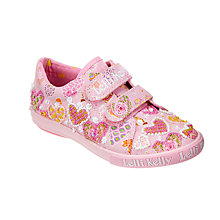 Buy Lelli Kelly Children's Angel Heart Rip-Tape Shoes, Pink Online at johnlewis.com
