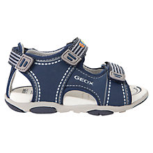 Buy Geox Children's Agasim Sandals, Navy/Grey Online at johnlewis.com