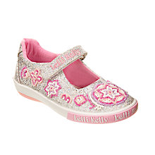 Buy Lelli Kelly Shining Star Rip-Tape Dolly Shoes, Silver Glitter Online at johnlewis.com