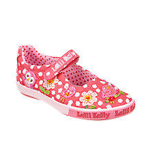 Buy Lelli Kelly Floral Birdie Rip-Tape Dolly Shoes, Red Online at johnlewis.com