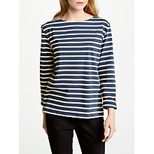 Buy Seasalt Sailor Jersey Top, Night/Ecru Online at johnlewis.com
