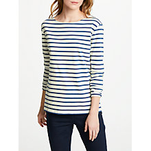 Buy Seasalt Sailor Jersey Top, Breton Ecru Night Online at johnlewis.com
